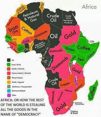 Risultati immagini per Africa materie prime